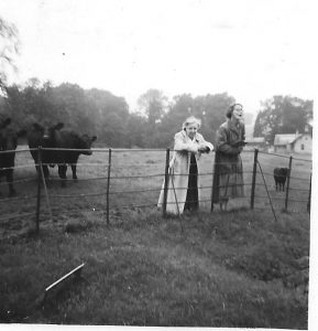 On a school trip in the late 1950s are Miss Whitehead left and Miss Robinson right